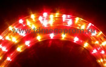 Дюралайт круглый чейзинг  LED-XD-3W-100-240V-RY   Повышенной яркости!  (арт.30-2701)
