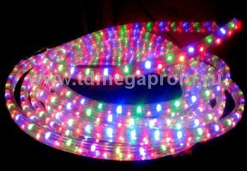 Дюралайт плоский чейзинг  LED-XF-3W-100-240V-RGBY     Повышенной яркости! (арт.30-2722)