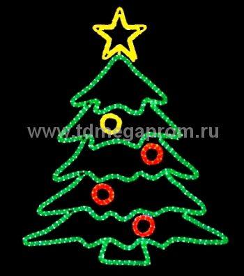 "Световая фигура из дюралайта  ""ЕЛКА"" LED-SKF-081   (арт.99-3341)"