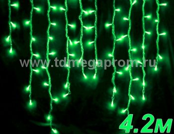 Бахрома светодиодная  LED-SKI-4.2M/0.8-220V-G     (арт.99-4089)