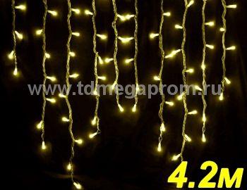 Бахрома светодиодная  LED-SKI-4.2M/0.8-220V-Y   (арт.99-3308)