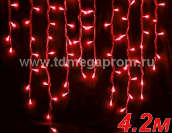 Бахрома светодиодная  LED-SKI-4.2M/0.8-220V-R     (арт.99-4085)
