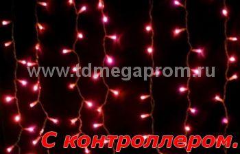 Плей-лайт светодиодный  с контроллером  LED-SKC-2M/1.5M-220V-R-C     (арт.99-4041)