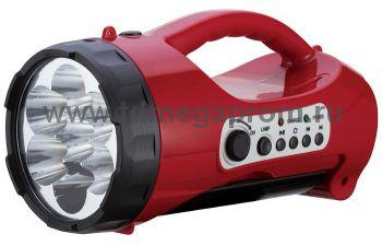 Светодиодный аккумуляторный фонарь САФ-5  лампа/плеер  (арт.30-4378)