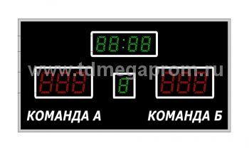 Табло спортивное универсальное Р-4х1-1х1-130G 6х1-200R_б    (арт.02)