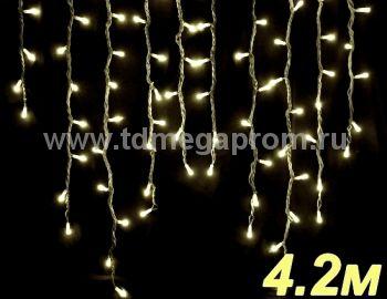 Бахрома светодиодная  LED-SKI-4.2M/0.8-220V-WW     (арт.99-4585)
