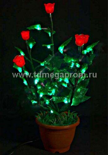 """Светодиодное дерево """"Куст красной Розы""""  LED-IMD-008   (арт.30-5472)"""
