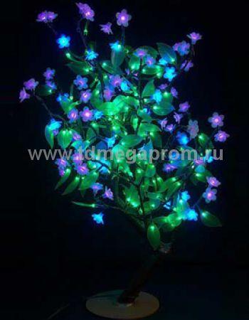 "Светодиодное дерево ""Сакура с зелеными листьями""  LED-CBL-Table(NEW)-BP        (арт.30-4692)"