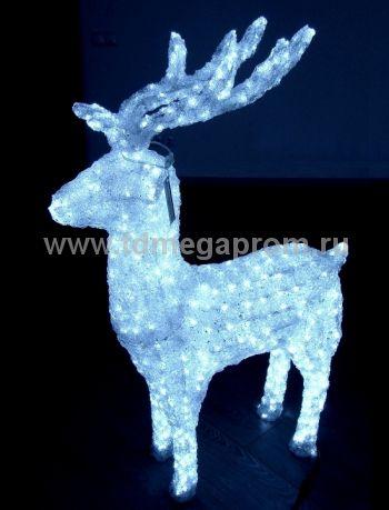"""Акриловая фигура  """"ОЛЕНЬ 3D""""  LED-MPD-047  (арт.30-5494)"""