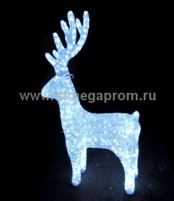 """Акриловая фигура  """"ОЛЕНЬ 3D""""  LED-MPD-048   (арт.30-5495)"""