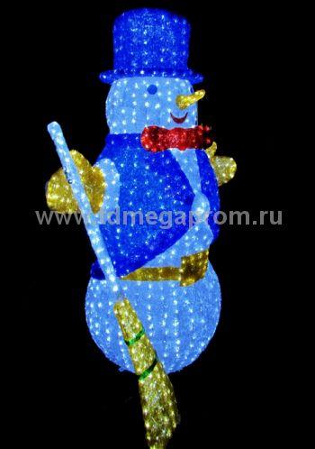 """Акриловая фигура  """"СНЕГОВИК БОЛЬШОЙ 3D""""    (арт.30-3469)"""