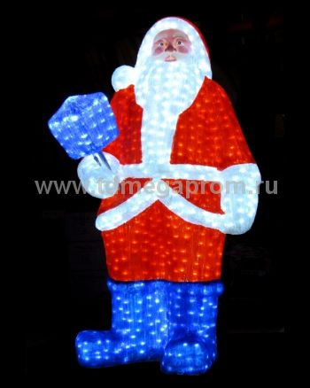 "Акриловая фигура  ""ДЕД МОРОЗ 3D""  LED-MPF-030  (арт.30-5496)"