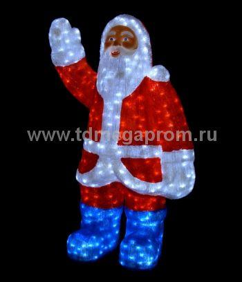 "Акриловая фигура  ""ДЕД МОРОЗ 3D""  LED-MPF-020  (арт.30-3455)"