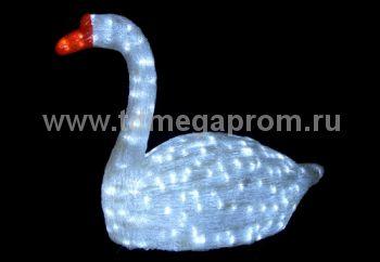 "Акриловая фигура  ""ЛЕБЕДЬ 3D""  LED-MPS-002 (арт.30)"