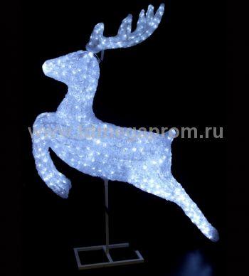 """Акриловая фигура  """"ОЛЕНЬ 3D""""  LED-MPD-044    (арт.30-5493)"""