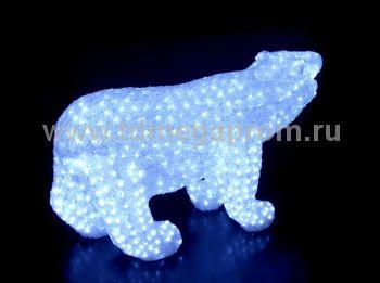 "Акриловая фигура  ""МЕДВЕДЬ 3D""  LED-MPB-102     (арт.30-5562)"