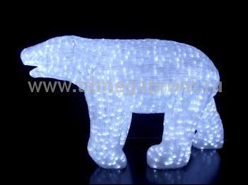 "Акриловая фигура  ""МЕДВЕДЬ 3D""  LED-MPB-101      (арт.30-5561)"