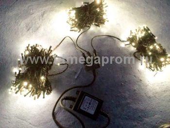 Гирлянда светодиодная  LED-BS-20х3-24V-WW   (арт.32-8798)