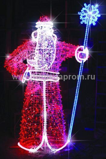 """Светодиодная конструкция большая """"Дед Мороз""""  LED-MKS-520 (арт.35)"""