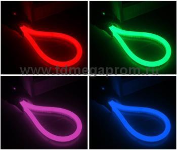 Гибкий неон  LED Neon Flex  LN(H)-FCB-25M-220V-RGB    Полноцветный.   (арт.32-4634)