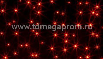 Занавес светодиодный  мерцающий  LED-PL(F)-2x1.5M-220V-R     (арт.30/32/33-5477)