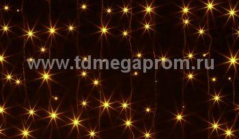 Занавес светодиодный  мерцающий  LED-PL(F)-2x1.5M-220V-Y     (арт.30/32/33-4647)