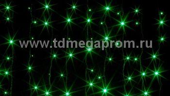 Занавес светодиодный  мерцающий  LED-PL(F)-2x1.5M-220V-G     (арт.30/33-5478)