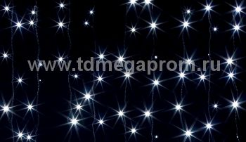 Занавес светодиодный  мерцающий  LED-PL(F)-2x1.5M-220V-W   (арт.31/30/32/33-5612)