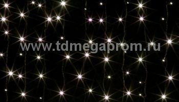 Занавес светодиодный  мерцающий  LED-PL(F)-2x1.5M-220V-WW  (арт.31/30/32/33-8951)