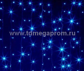 Занавес светодиодный  мерцающий  LED-PL(F)-2x3M-220V-B   (арт.31/30-4746)