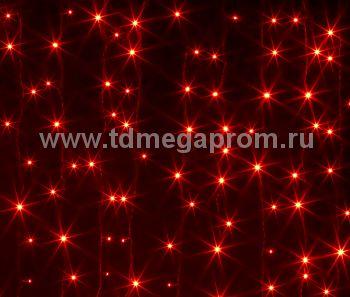 Занавес светодиодный  мерцающий  LED-PL(F)-2x3M-220V-R  (арт.30/31-5614)