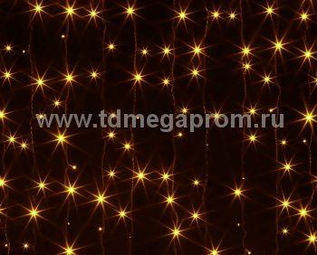 Занавес светодиодный  мерцающий  LED-PL(F)-2x3M-220V-Y   (арт.30/31-8940)