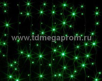 Занавес светодиодный  мерцающий  LED-PL(F)-2x3M-220V-G   (арт.31/30-4747)