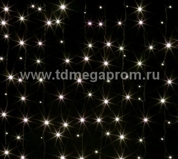 Занавес светодиодный  мерцающий  LED-PL(F)-2x3M-220V-WW   (арт.31/30-4748)