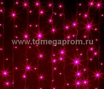 Занавес светодиодный  мерцающий  LED-PL(F)-2x3M-220V-P   (арт.31-8954)