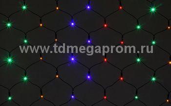 Сеть светодиодная LED-MPN-2.5M/1.22M-220V-RGBY   (арт.32)