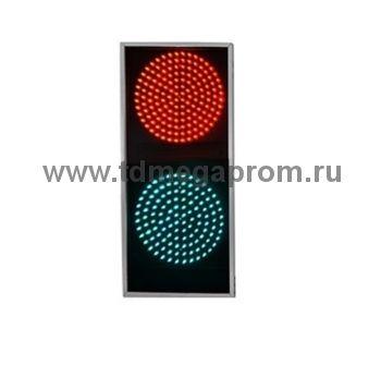 Светофор ультратонкий двухсекционный светодиодный Т.8.1 200мм   (арт.81-14315)