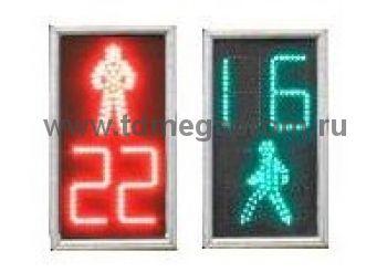 Светофор пешеходный светодиодный П.2.2 ПЛОСКИЙ cТООВ 300мм (арт.81)