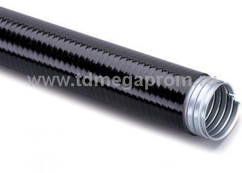 Усиленный металлорукав в ПВХ оболочке (негорючий, морозостойкий)  (арт.114)