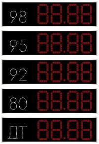 Табло АЗС цена, вид топлива (арт.03)