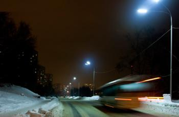 Светодиодное освещение городских улиц(консольный