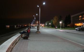 Светодиодное освещение набережной (Уличные