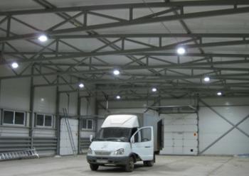 Светодиодное освещение склада (светодиодные