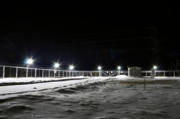 Охранное светодиодное освещение газового