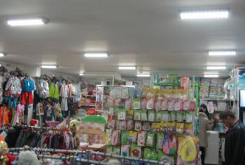 Светодиодное освещение магазина (потолочный