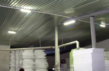 Промышленное светодиодное освещение производственного