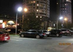 Освещение автопарковки и территории