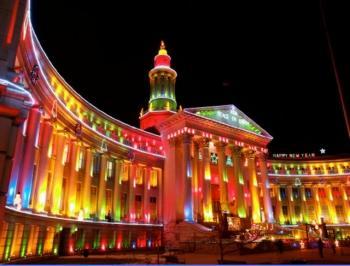 Пример светодиодной архитектурной подсветка