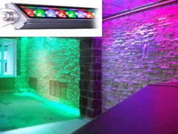 Подсветка стен интерьера линейными