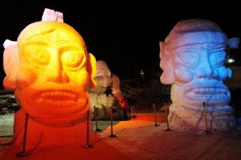 Декоративная подсветка песчаных скульптур